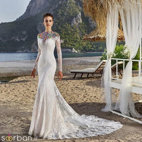 لباس عروس آستین بلند13