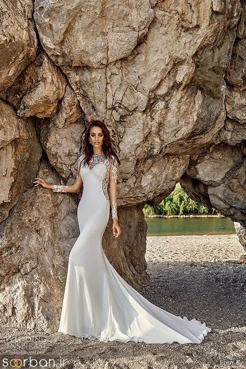 لباس عروس آستین بلند14
