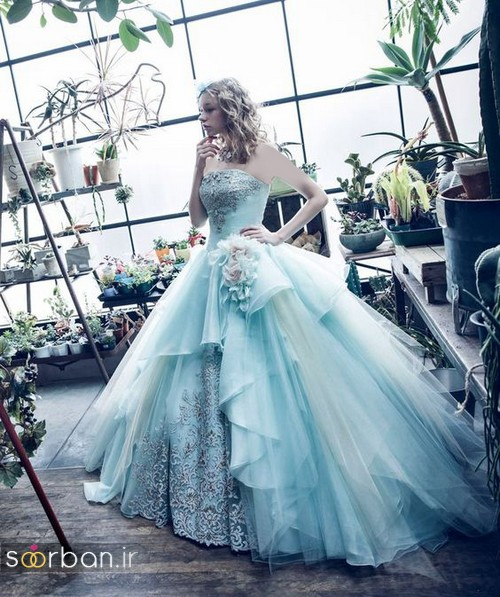 لباس عروس آبی6