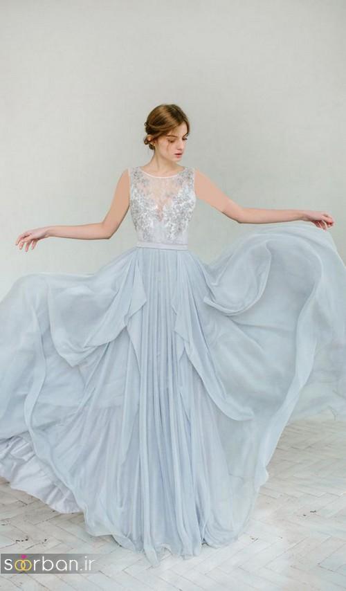 لباس عروس آبی8