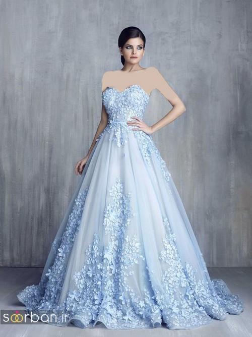 لباس عروس آبی11