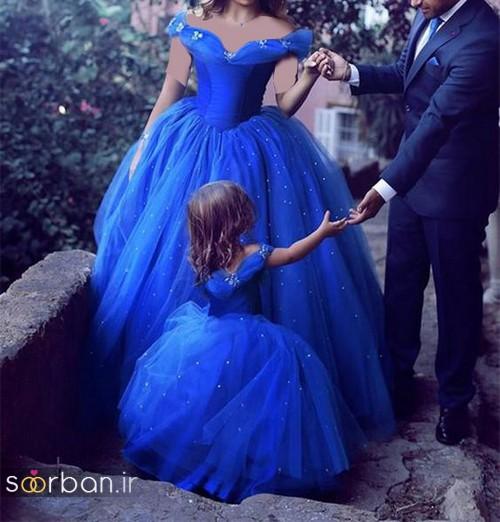 لباس عروس آبی16