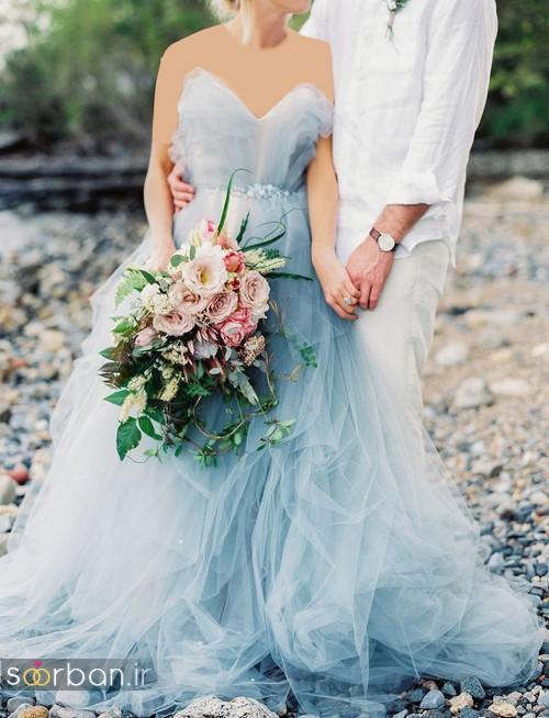 لباس عروس آبی17