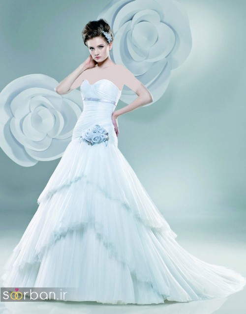 لباس عروس آبی19