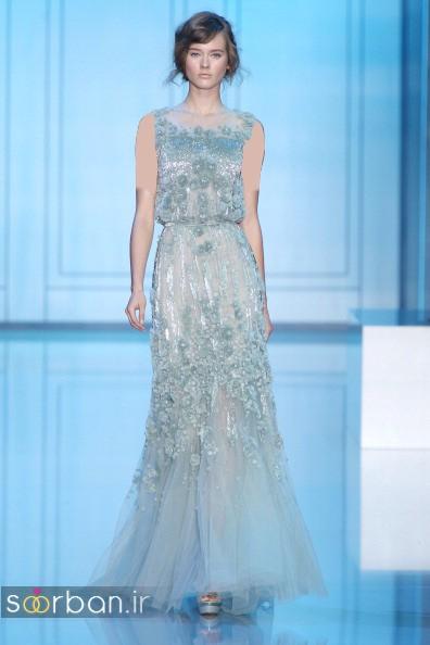 لباس عروس آبی0