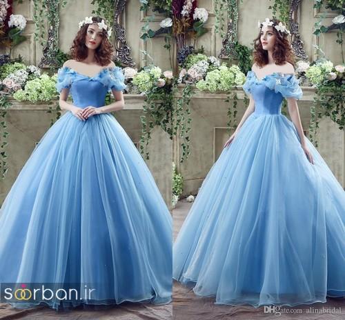 لباس عروس آبی21