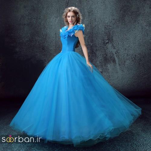 لباس عروس آبی23