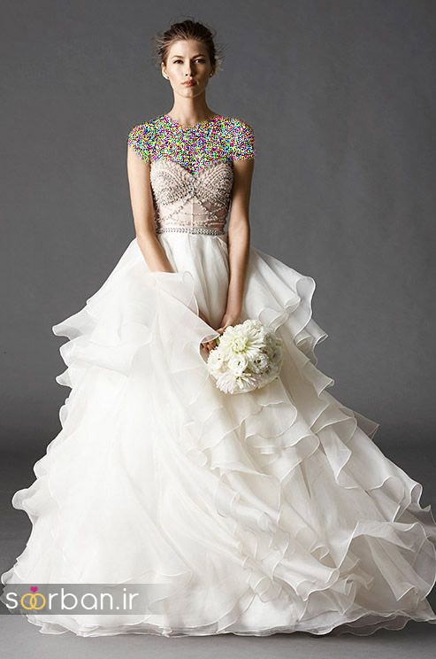 لباس عروس پفی زیبا 3