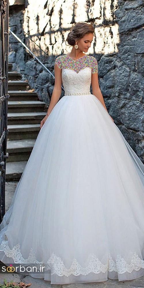 لباس عروس پفی زیبا 4