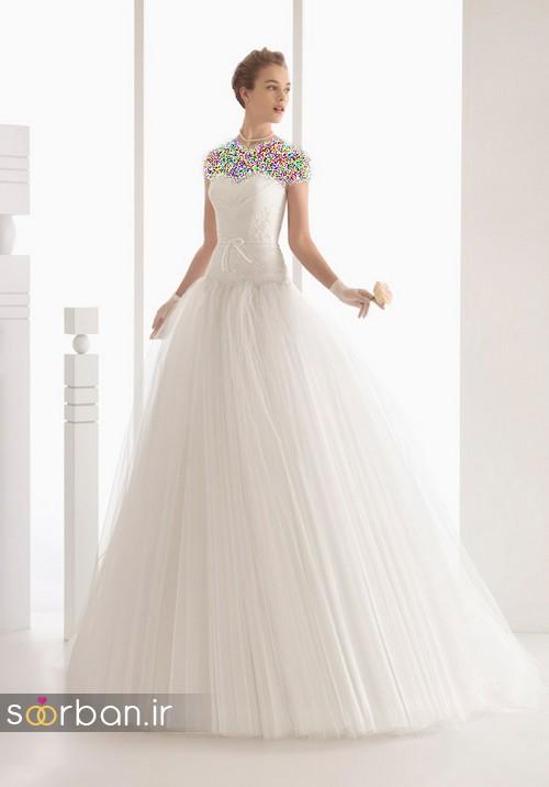 لباس عروس پفی زیبا 5