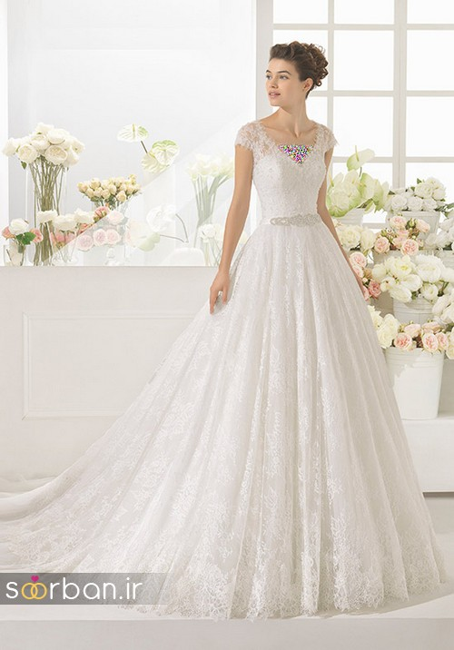 لباس عروس پفی زیبا 6