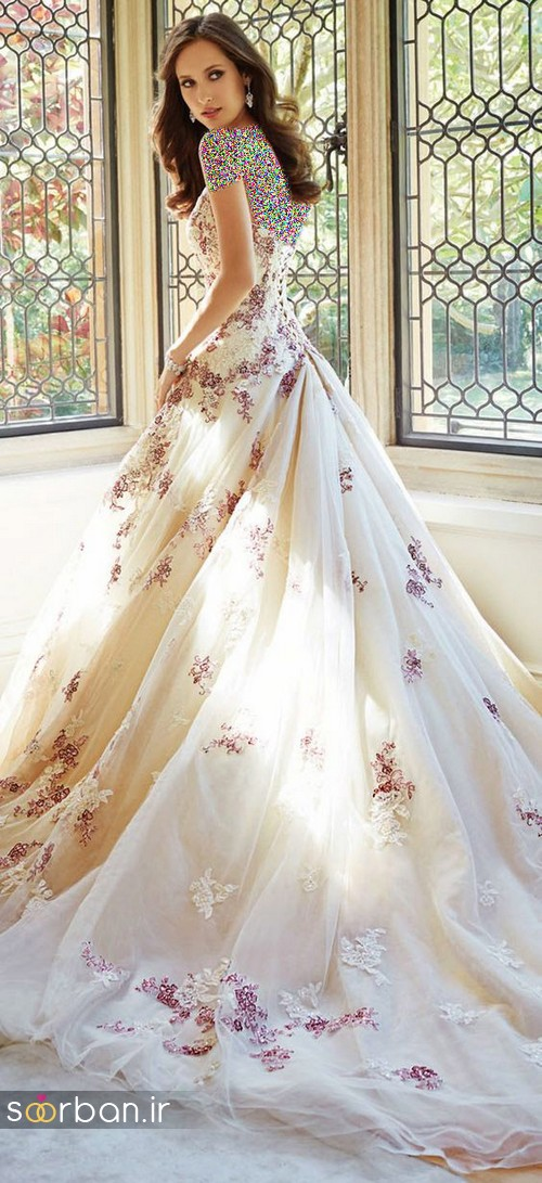 لباس عروس پفی زیبا 7