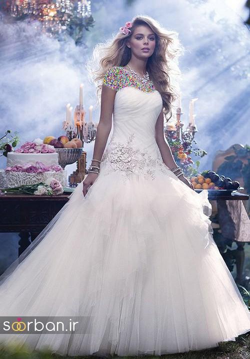 لباس عروس پفی زیبا 8