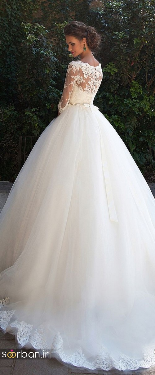 لباس عروس پفی زیبا 9