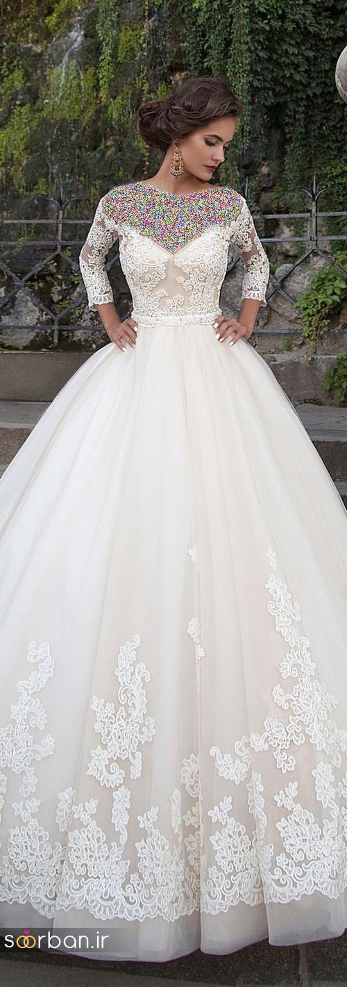 لباس عروس پفی زیبا 10