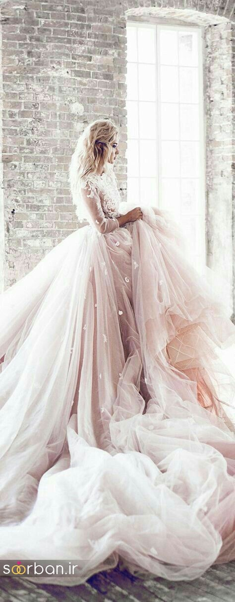لباس عروس پفی زیبا 11