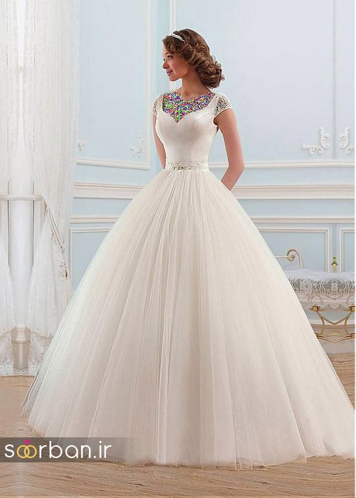 لباس عروس پفی زیبا 12