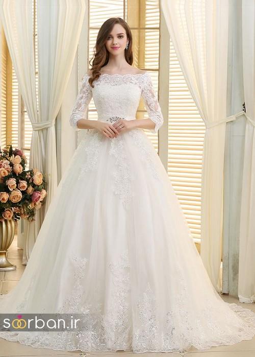 لباس عروس پفی زیبا 20