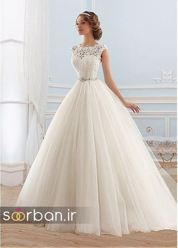 لباس عروس پفی زیبا 15