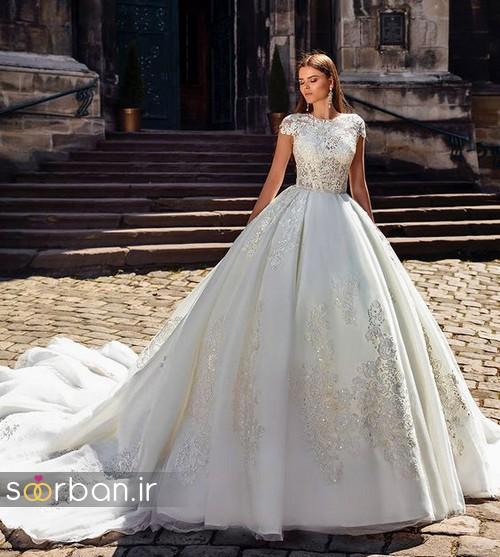 لباس عروس پفی زیبا 16