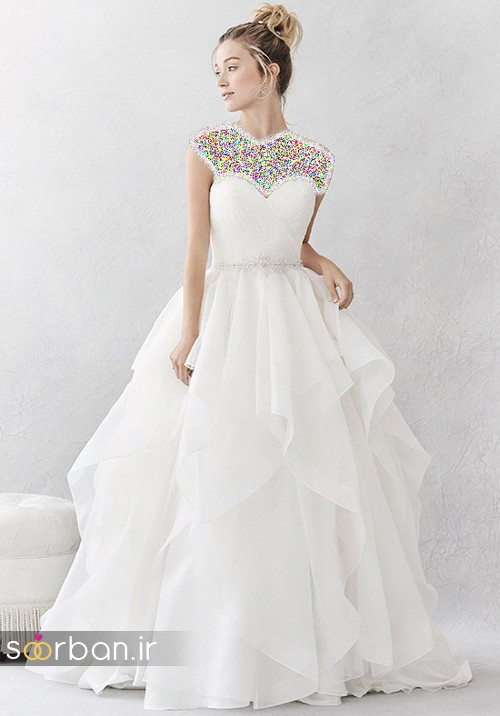 لباس عروس پفی زیبا 18