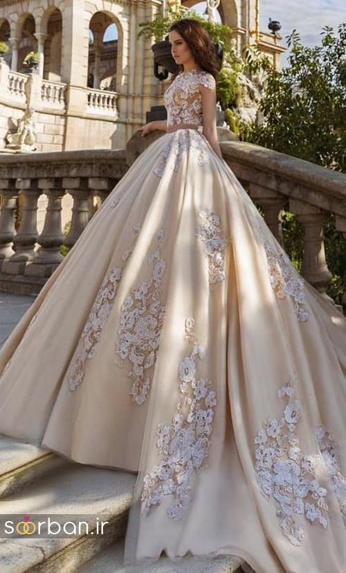 لباس عروس پفی زیبا 21