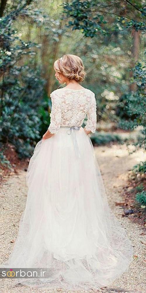 لباس عروس پوشیده اروپایی 2
