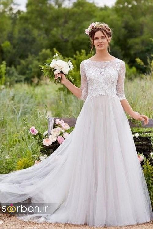 لباس عروس پوشیده اروپایی 5
