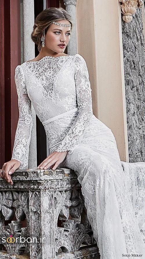 لباس عروس پوشیده اروپایی 8