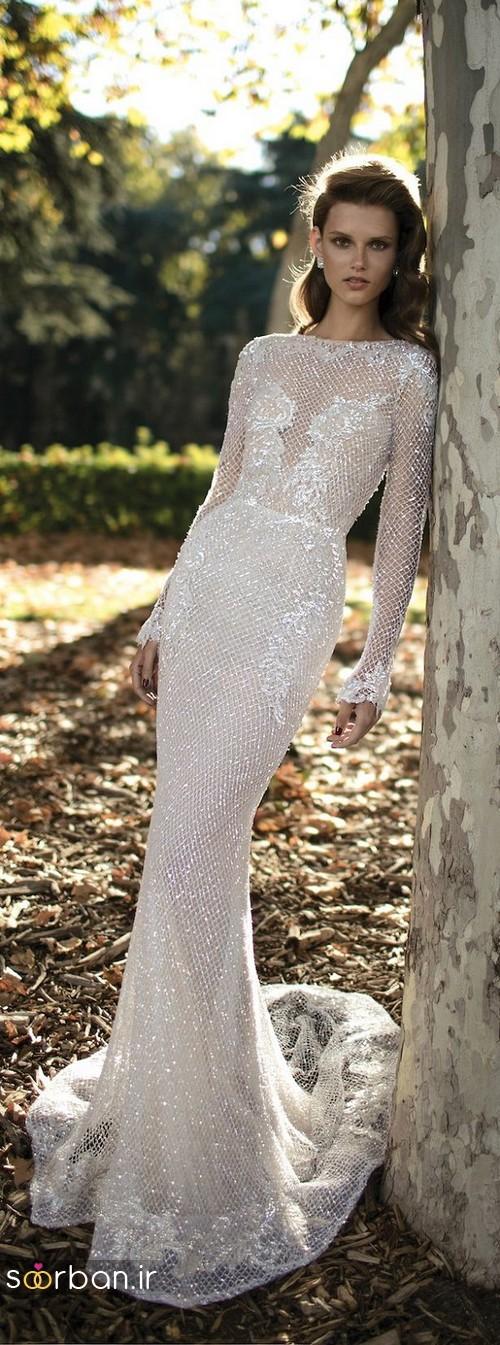 لباس عروس پوشیده اروپایی 9