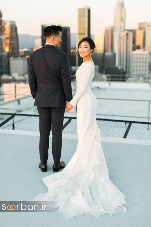لباس عروس پوشیده اروپایی 10
