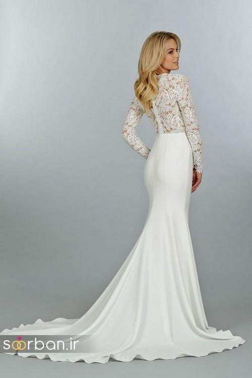 لباس عروس پوشیده اروپایی 11