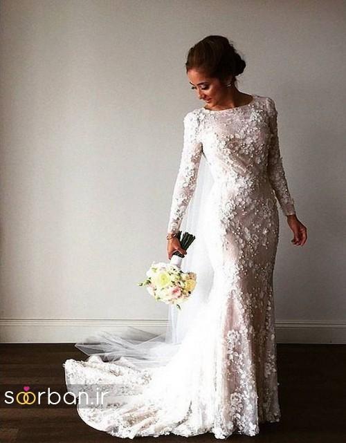 لباس عروس پوشیده اروپایی 12