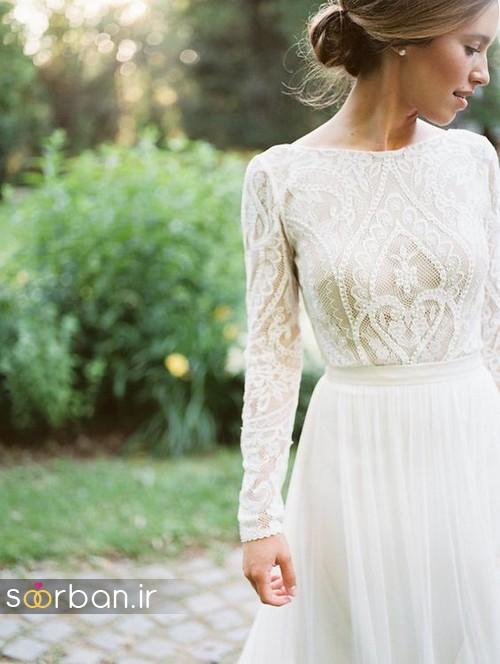 لباس عروس پوشیده اروپایی 20