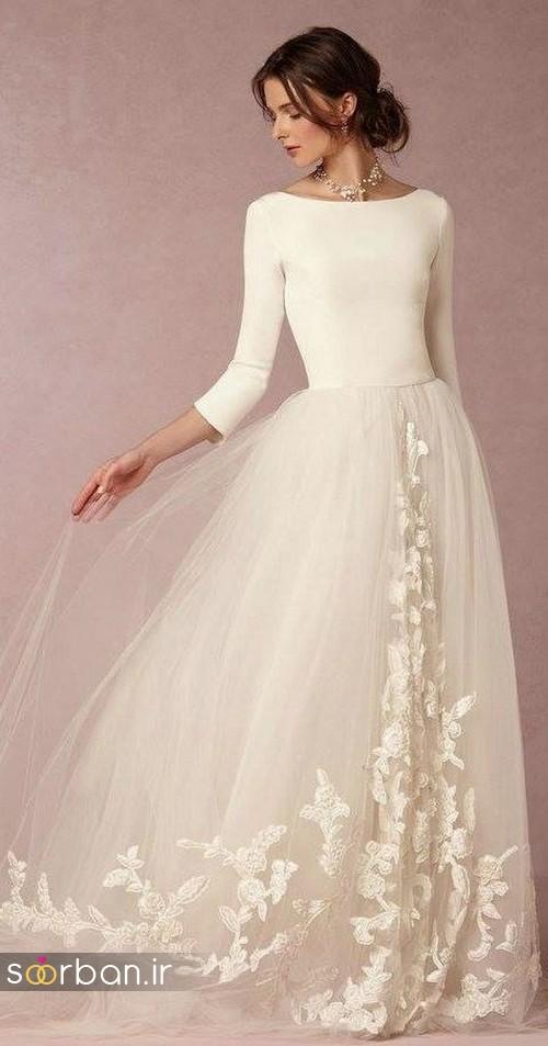 لباس عروس پوشیده اروپایی 15