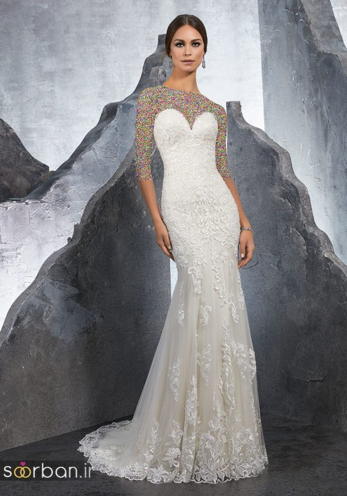 لباس عروس دانتل15