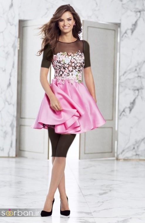 جدیدترین مدل های لباس مجلسی کوتاه دخترانه-3
