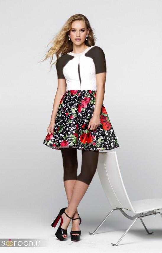 جدیدترین مدل های لباس مجلسی کوتاه دخترانه-5