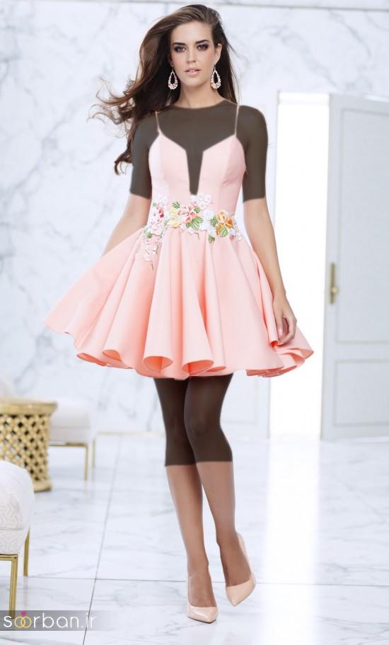 جدیدترین مدل های لباس مجلسی کوتاه دخترانه-6