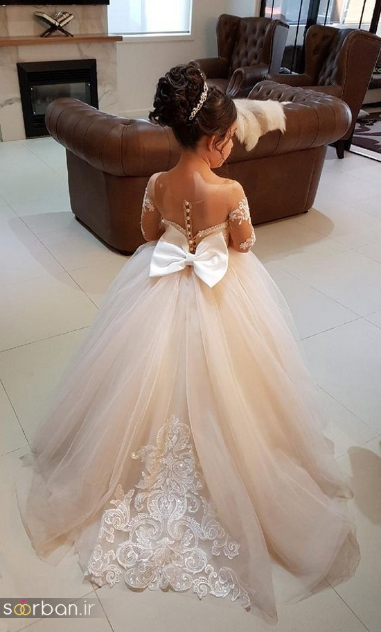 جدیدترین لباس عروس بچه گانه پرنسسی زیبا
