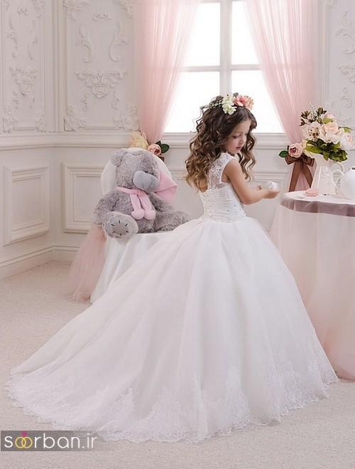 لباس عروس بچگانه 2020 شیک و جدید دنباله دار
