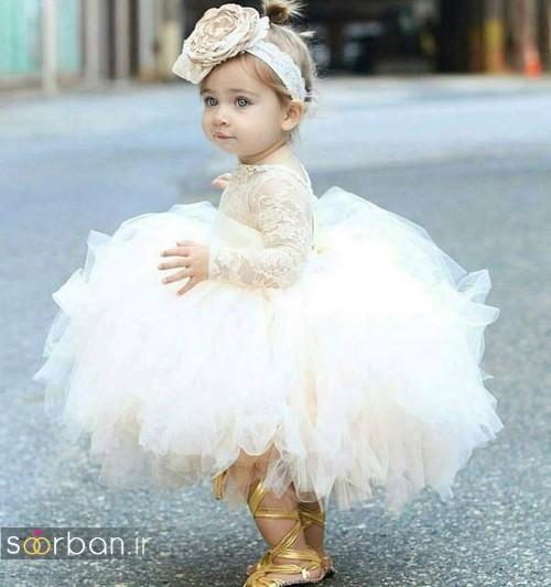 عکس مدل لباس عروس بچگانه 2020 شیک و جدید پفی