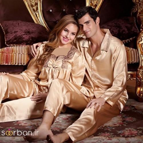 18 ست لباس خواب عروس و داماد شیک و جدید