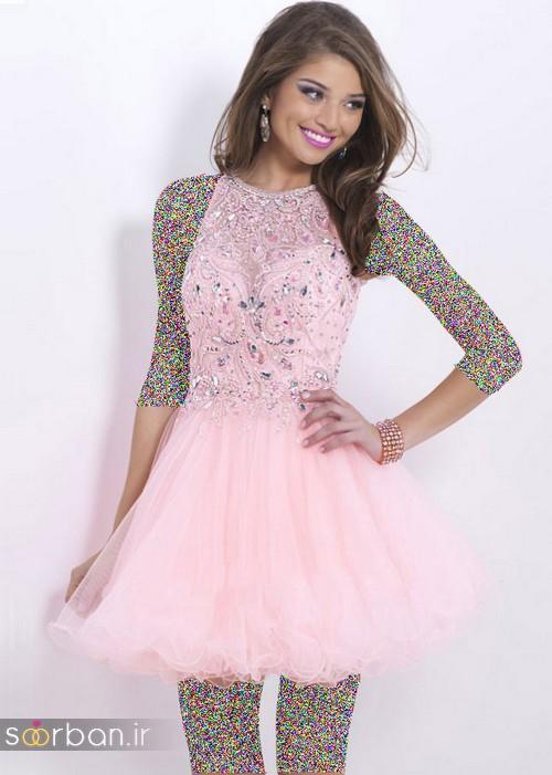 لباس مجلسی کوتاه دخترانه عروسکی 9