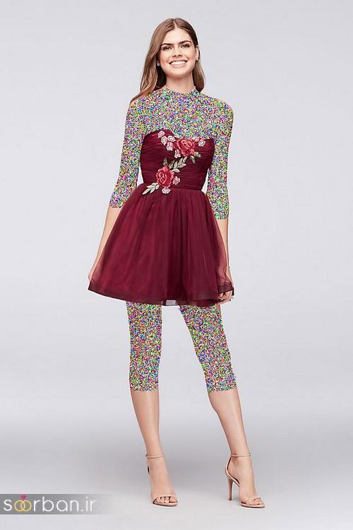 لباس مجلسی کوتاه دخترانه عروسکی 10
