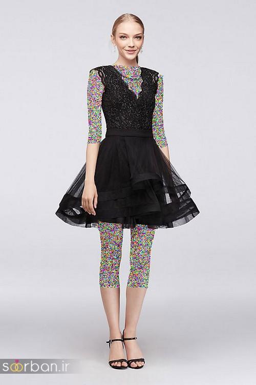 لباس مجلسی کوتاه دخترانه عروسکی 12