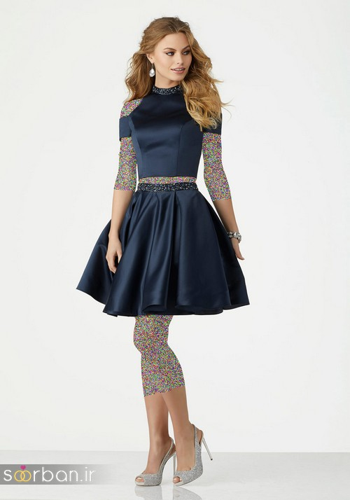 لباس مجلسی کوتاه دخترانه عروسکی 17