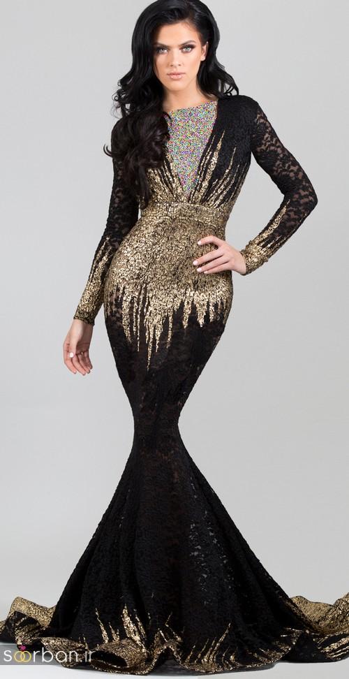 مدل لباس مجلسی بلند مشکی1