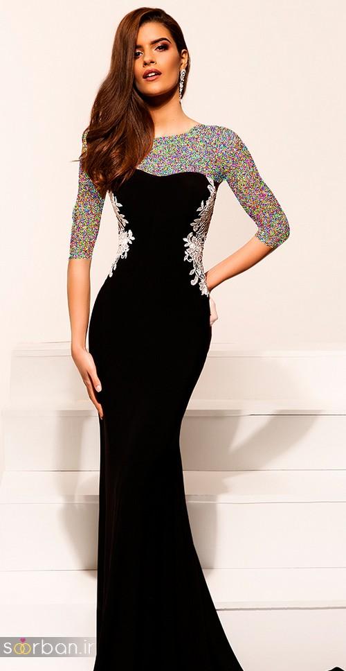 مدل لباس مجلسی بلند مشکی9