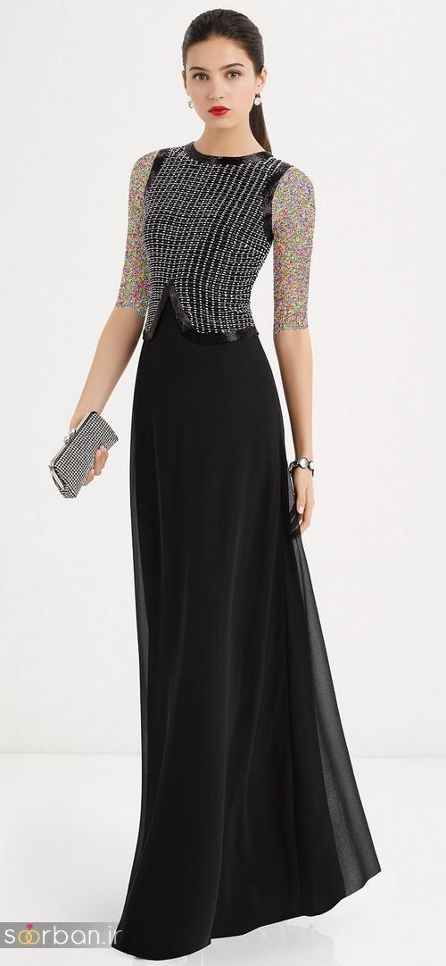 مدل لباس مجلسی بلند مشکی10